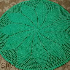 Tapete redondo de crochê 100cm | Benja Peças Artesanais em Crochê | Elo7                                                                                                                                                                                 Mais