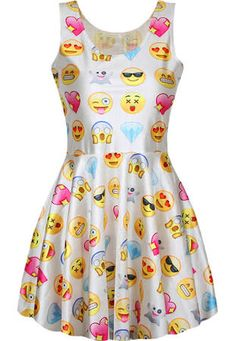 online shopping for Celewe Women's Girls Digital Emoji Print Skater Pleated Dress from top store. See new offer for Celewe Women's Girls Digital Emoji Print Skater Pleated Dress Dresses For Teens, Outfits For Teens, Cute Dresses, Pleated Dresses, Dressy Dresses, Dress Casual, Casual Wear, Summer Outfits, Vetements Shoes