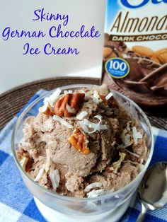 Skinny German Chocolate Ice Cream Made with dark chocolate almond milk, this no-churn Skinny German Chocolate Ice Cream is creamy & delicious and easy on the waistline...