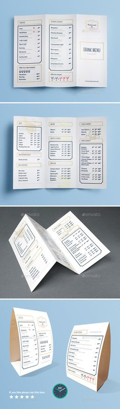 Food menu for restaurant and cafe Design template with hand-drawn - menus templates free