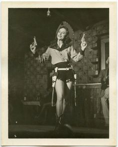 1940s Sexy Cowgirl with Guns  snapshot 397 by Snapatorium on Etsy, $10.00