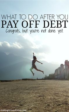 Many don't think about what to do next after they pay off debt. This can be a mistake, though, as it may lead to someone falling back into debt.