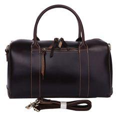 f1ee8b81df Jasper   Maine Dark Brown Leather Duffel Holdall 7165Q