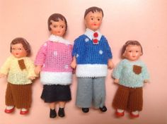 Vintage Ari doll family made in Germany 1970's by karmolijntje