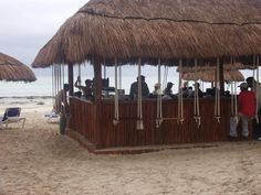 gran porto real beach bar with swings