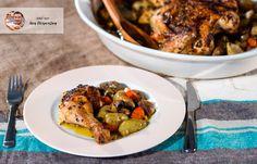Κοτόπουλο πικάντικο με ψητά λαχανικά απο τον Ακη Πετρετζικη