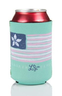 Keep those drinks cool with our Magnolia Flag Koozie!