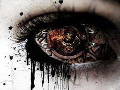 Gear Eye by on DeviantArt Pretty Eyes, Cool Eyes, Beautiful Eyes, Steampunk Artwork, Steampunk Clock, Galaxy Eyes, Eyes Artwork, Totenkopf Tattoos, Gear Art