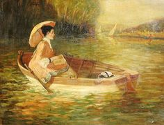 Edouard Manet (French artist, 1832-1883) Woman in a Boat.