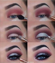 makeup tutorial 40 Winter Eye Makeup Ideas Schöne 40 Winter Eye Make-up-Ideen Makeup Goals, Makeup Inspo, Makeup Art, Makeup Inspiration, Beauty Makeup, Hair Makeup, Makeup Ideas, Makeup Hacks, Makeup Meme