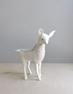 a deer in winter woolens / soft sculpture animal by ohalbatross, $76.00