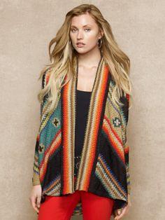 Hand-Knit Linen-Blend Cardigan - Cardigans  Sweaters - RalphLauren.com