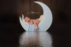 Adorable wooden moon photo prop, fits newborn - toddler. Wooden prop, wooden photography prop, Moon prop, Wooden baby photo prop. baby prop