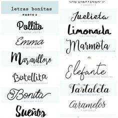 Descubre estos lindos tipos de letras para usarlos en invitaciones de cumpleaños, baby shower, primera comunión, bodas, recuerditos, aniversarios y cualquier tipo de actividad donde necesites dar una
