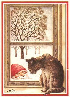 Illustration by Lennart Helje-Wie kijkt naar wie en denkt ....0jee een.................lb xxx.