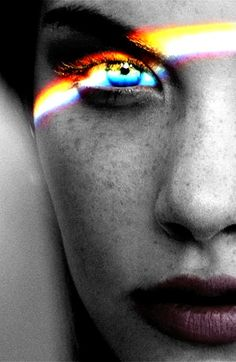 i'll admit i don't always like these rainbow light portraits but this one is beautiful.