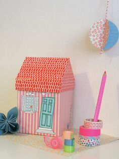 """New post on daydreamland.it """"A house is... a Tiger box"""" tiger washitape faber castell set,photo: Giovanna Rotundo"""