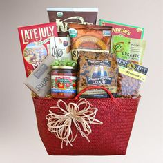 One of my favorite discoveries at WorldMarket.com: Organically Delicious Wishes Gift Basket
