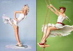 Here's a twist on the classic 40s pin-up girl:London-based photographerJaroslav Wieczorkiewiczcombines America's favorite drink with images of America's favorite vintage sex icons. By combining and layering hundreds of photos of real milk splashed across the models' bodies,Wieczorkiewicz literally dresses the girls in milk. That's right. These are real photos of milk and half-naked women, no […]