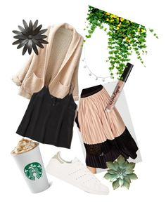 """Casual"" by ralu-florea on Polyvore featuring WithChic, Hollister Co., adidas and NYX"