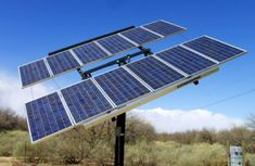 Zomeworks passive solar tracker holds up to of solar panels, and can be purchased for use in your solar installation. Solar Panel System, Panel Systems, Solar Tracker, Solar Energy For Home, Landscaping Near Me, Solar Panels For Home, Passive Solar, Solar Installation, Renewable Energy