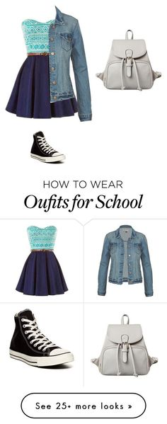"""School"" by evangelinaconstance on Polyvore featuring Converse"