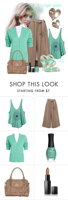 """Capri pants"" by lorrainekeenan ❤ liked on Polyvore featuring RVCA, Tome, Pierre Cardin, ORLY, maurices, Vincent Longo and Jimmy Choo"