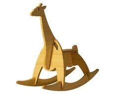 natural bamboo rocking giraffe - wee rock toy co #madeinUSA #munire #pinparty
