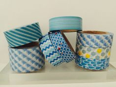 Blue Washi Tape in 8 Patterns by GoatGirlMH on Etsy