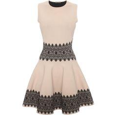 Lace Circle Jacquard Mini Dress Alexander McQueen | Mini Dress | Dresses |