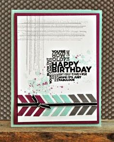 Stamping with Shelle: Chevron Gorgeous Grunge Card