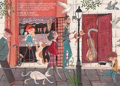Children Illustration by Caroline Bonne Muller — Caroline Bonne Muller Pet O, Art Assignments, Children's Book Illustration, Book Illustrations, Mood Colors, Like A Cat, Art Courses, Environment Design, Gaucho