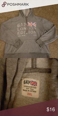 bc0ca2fe3e09a Shop Women s GAP Gray size XXL Sweatshirts   Hoodies at a discounted price  at Poshmark.