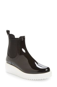 Free shipping and returns on Jeffrey Campbell Hydro Chelsea Platform Rain Boot (Women) at Nordstrom.com. Oversized goring panels detail a classic Chelsea boot updated with a sawtooth platform sole.