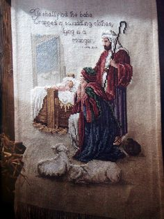 Christmas Portraits By Leisure Arts Hard Cover Cross Stitch Book by NeedANeedle, $7.75 Nativity