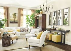 how to decorate a big wall   Tall Ceilings, Large Wall Space   How To Decorate