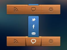 Dribbble - Navigation Bar For App by Nick Zhukov - via http://bit.ly/epinner