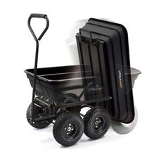 Amazon.com: Gorilla Carts GOR200B Poly Garden Dump Cart With Steel U2026 |  Pinterest | Steel Frame, Tired And Yard Cart