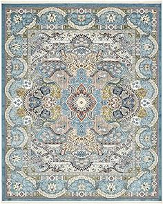 Unique Loom Nain Design Collection Blue 8 x 10 Area Rug (...