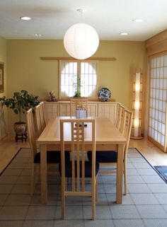Award-winning dining room remodel by Magnotta Builders and Remodelers;  Shoji screens by ShojiDesigns.com