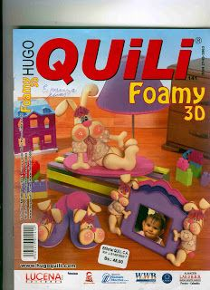 REVISTAS DE MANUALIDADES GRATIS: Revista Foamy goma eva Sewing Magazines, Magazine Crafts, Toy Chest, Projects To Try, Diy, Kids Rugs, Quilts, Dolls, Biscuit