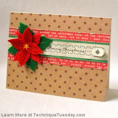 This card by Laura O'Donnell is so fun! I love that she added a pull strip (with the Pull Strip die from TechniqueTuesday.com) element to it. Rip it off and you'll find there is either a gift card or cash hidden in the card.