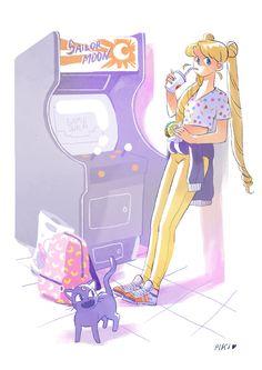 Sailor Moon in Crown Arcade