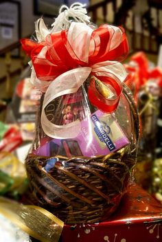 Assorted gift baskets that any wino would love!
