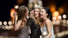 happy young women with sparklers at new year night by dolgachov on PhotoDune. holidays, new year and people concept ¨C happy young women with sparklers over christmas tree lights background New Years Instagram Captions, New Year Captions, Instagram Funny, New Instagram, Instagram People, Cute Couple Quotes, Cute Couple Pictures, Girl Pictures, Friend Pictures