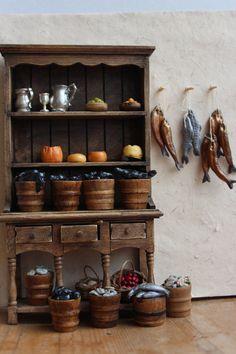 Eels: Medieval Tudor Gothic dollshouse food by medievalmorsels