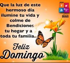 Que la luz de este hermoso día, ilumine tu vida y colme de bendiciones tu hogar y a toda tu familia.. Feliz Domingo <3