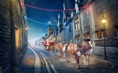 WALLPAPERS HD: Santa Claus Reindeer Chariot