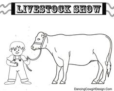 livestock show coloring pages free printables