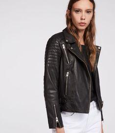 158208edd06 ALLSAINTS US  Womens Papin Leather Biker Jacket (black)